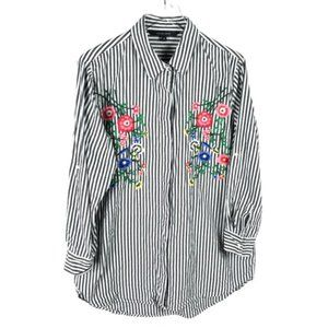 Walter Baker Embroidered Striped Tunic Size XL